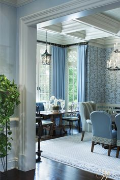 Two dining areas, perfect for holiday entertaining | Cindy Rinfret LTD & Wadia
