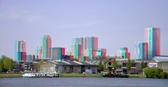 https://flic.kr/p/H1JnPa | Hyper-stereo ROTTERDAM | anaglyph stereo red/cyan