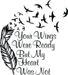 Your Wings Were Ready Cross Stitch Chart On The Website
