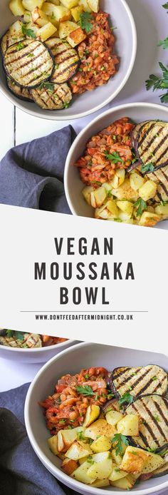 Vegan moussaka bowl recipe