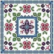 The Floss Box | Biscornu 421 Pdf pattern