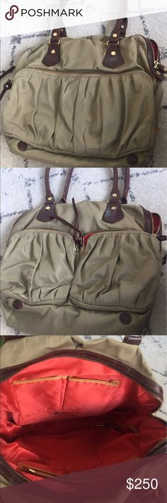 """MZ Wallace Jane Bag - Beige - in amazing condition The M Z Wallace signature Jane bag is perfect for everyday use. Water and stain resistance   13"""" x 12"""" x 5""""   Handle drop 11""""   Style #: MZW172   Content: 100% Nylon   Made in China. Imperfections: light stain on the bottom of the bag from use, black stain on large outside pocket, 3 black ink stains inside the bag MZ Wallace Bags Totes"""