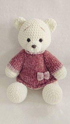 Mesmerizing Crochet an Amigurumi Rabbit Ideas. Lovely Crochet an Amigurumi Rabbit Ideas. Teddy Bear Patterns Free, Crochet Bear Patterns, Easy Crochet Projects, Crochet Ideas, Blanket Yarn, Knitted Animals, Stuffed Animal Patterns, Cute Dolls, Amigurumi Doll