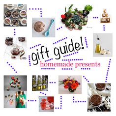 holiday gift guide: homemade DIY presents. Good stuff such as flavored vodkas and liqueurs, body scrubs, home decor, accessories...