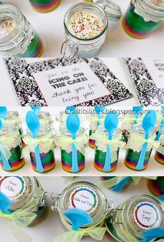 TEACHER APPRECIATION idea PART 3 - CAKE IN A JAR! FREE downloadable tag