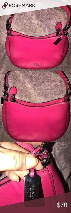 Coach pink leather shoulder bag. Beautiful pink leather Coach shoulder bag. In great shape only carried a couple times. Coach Bags Shoulder Bags