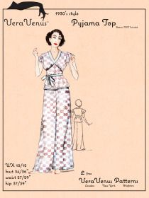 VeraVenus's 30s PJs drafting instructions and pattern