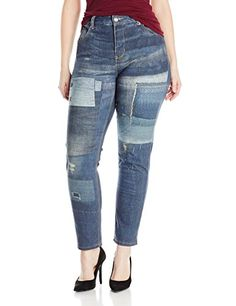 Fashion Bug Womens Plus Size Skinny Roll-Up www.fashionbug.us #PlusSize #FashionBug #Jeans