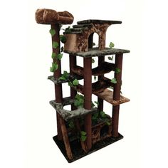 Kitty Mansions Mini-Amazon Green Cat Tree Furniture - Overstock™ Shopping - The Best Prices on Kitty Mansions Cat Furniture