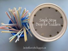 I know I've already shared several drop activities for babies and toddlers, but Little Brother has been enjoying this activity for over a we...