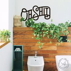 """""""Metal sing 'Oh Shit' is a modern and stylish wall art piece. It is perfect for decorating your home, or like an original gift! FREE EXPRESS Shipping in USA, Canada, Europe! (DHL max. 3-5 days * Height 28 cm x Horizontal width 53 cm or 11\"""" x 21\"""" * Height 38 cm x Horizontal width 73 cm or 15\"""" x 29\"""" * Height 50 cm x Horizontal width 95 cm or 20\"""" x 37\"""" If you would like your own size please let us know. Due to the special hanging the product is attached to the wall at a distance of 1 cm. It m Large Metal Letters, Metal Wall Letters, Letter Wall Art, Metal Wall Decor, Metal Walls, Metal Wall Art, Coffee Wall Art, Never Stop Dreaming, Bathroom Wall Art"""