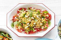 Sliced Tomatoes with Corn and Feta  - Delish.com