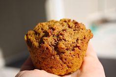 Get Natured: Kid-tested pumpkin muffins Vegan Treats, Vegan Snacks, Vegan Desserts, Pumpkin Protein Muffins, Healthy Muffins, Healthy Pumpkin, Vegan Pumpkin, Delicious Vegan Recipes, Yummy Food