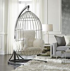 Decor Salteado - Blog de Decoração e Arquitetura : Cadeira gaiola – veja modelos com essa tendência e dicas de como usá-la na decoração!