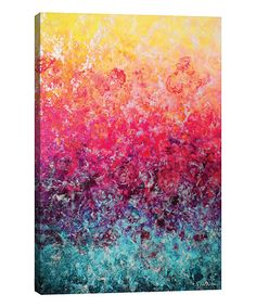 "GreatBigCanvas """"Euphoria""""by Vinn Wong Canvas Wall Art, Multi-Color Watercolor Paintings Abstract, Painting Prints, Abstract Art, Canvas Wall Art, Canvas Prints, Framed Prints, Detail Art, Wrapped Canvas, Graphic Art"