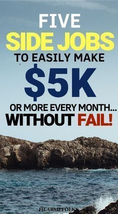 5 Epic Side Jobs that Make Most Money in 2019 Passive income ideas to make the most money. If your aim is to ultimate side hustles will pave your way to success. Get started today! Ways To Earn Money, Earn Money From Home, Make Money Fast, Earn Money Online, Make Money Blogging, Money Tips, Online Jobs, Making Money From Home, Online Income
