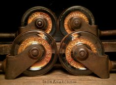 Antique Glass Furniture Casters from IronAnarchy.com
