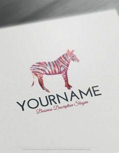 Free Logomaker – Zebra Logo Template