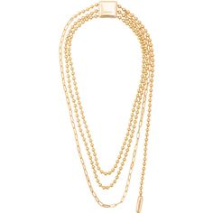 Ambush triple ball chain necklace (1.705 BRL) ❤ liked on Polyvore featuring jewelry, necklaces, metallic, triple necklace, ball chain necklace, metallic jewelry, ambush jewelry and ball chain jewelry