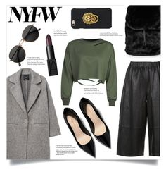 """""""NYFW '17"""" by franceee ❤ liked on Polyvore featuring MANGO, Robert Rodriguez, WithChic, Puma, H&M, NARS Cosmetics and NYFW"""