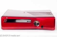 Replacement housing for the Xbox 360 Slim, glossy metalic red