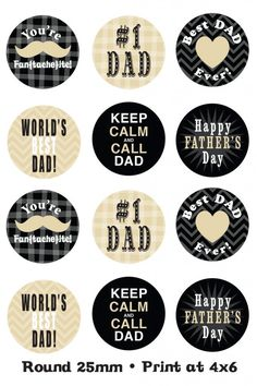 {Father's Day printables by Epiphany Crafts / SBO} Bottle Cap Art, Bottle Cap Crafts, Bottle Cap Images, Fathers Day Crafts, Happy Fathers Day, Father's Day Printable, Free Printables, Epiphany Crafts, Father's Day Celebration