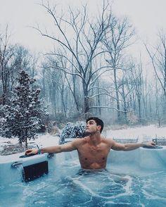 Grayson Dolan. #snow.