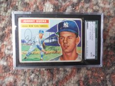 1956 JOHNNY KUCKS ROOKIE CARD- SIGNED/AUTOGRAPHED-SGC