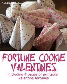 Fortune Cookie Valentines – Free Printable Valentine Fortunes