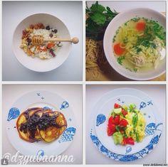 Комплекс 6 Завтрак: Сладкий плов с орешками и медом Обед: Лапша куриная домашняя Полдник: Оладьи с черничным соусом Ужин: Лобио с яйцом и овощной салат