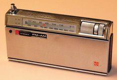 Vintage Panasonic Two-Band (FM-AM) Transistor Radio, Model RF-800, 9 Transistors, Made In Japan, Circa 1965.