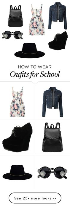 """Back to school 2015"" by amber-de-bleeckere on Polyvore featuring Cameo Rose, LE3NO, Forever Link and Zimmermann"