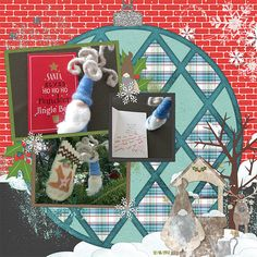 Round Page: kit by : Kreative Design Studio: Called Gnome for the Holiday: https://www.etsy.com/listing/560700872/gnome-for-christmas-digital?ref=listing-shop-header-3  Templates by Miss Fish Called Love U to Pieces: http://store.gingerscraps.net/Love-You-To-Pieces-Templates-by-Miss-Fish.html Only $2.00 right now!!