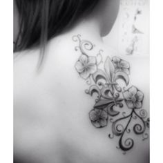 Laurel fleur de lis tattoo