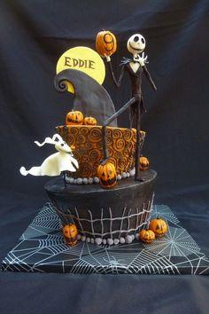 El Extraño Mundo de Jack (Nightmare Before Christmas, 1993) hecho torta