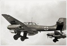 Rotte of Junkers Ju-87R Stukas