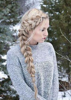 zigzag side braid