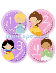 Baby Month Stickers Monthly Onesie by PurplePossom on Etsy, $9.00