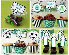 Decoración Cumpleaños Fútbol Pack Imprimible Fiesta