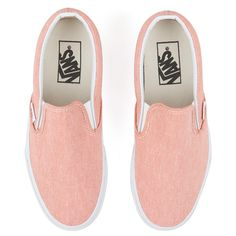 bdc41df6cd Vans Women s Classic Slip-on Chambray Trainers Coral True White (310 RON)