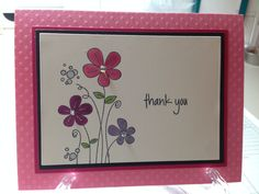 A card I made using a simple stamp from Rubbernecker Stamps!  One of my all time favorite stamps....