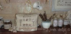 Toaster cover hand sewn hand embroidered gift von MJJenekdesigns