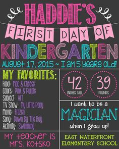 First Day of School Chalkboard Poster by PersonalizedChalk on Etsy