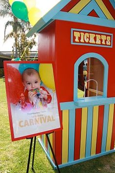 Insane over the top carnival 1st birthday party