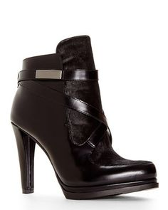FRENCH CONNECTION Black Serena Booties
