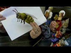 Васько Елена. Ватные игрушки. Пчела 09.04.18 - YouTube