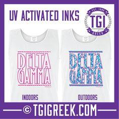 TGI Greek - Delta Gamma - Color Change Tanks - Comfort Colors  #tgigreek #deltagamma
