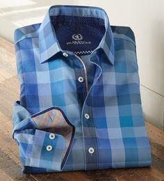 Bugatchi Uomo Long Sleeve Bold Check Sport Shirt