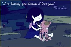 adventure time, marceline, marceline as a little kid Adventure Time Quotes, Adventure Time Characters, Adventure Time Marceline, Cartoon Video Games, Cartoon Tv Shows, Walking Dead, Because I Love You, My Love, Land Of Ooo