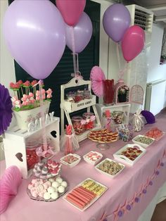 Candy Table, Candy Buffet, Girl Birthday, Birthday Parties, Bar A Bonbon, Ideas Para Fiestas, Dog Snacks, First Birthdays, Party Time